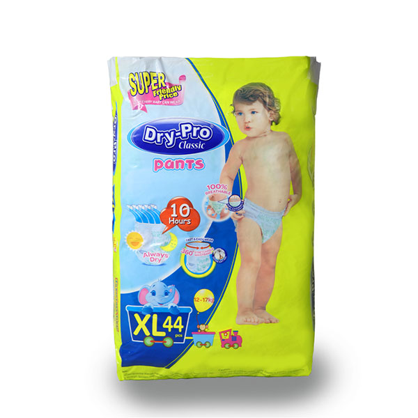 Dry-Pro Classic baby Pants Disposable Diapers 12-17kg 44