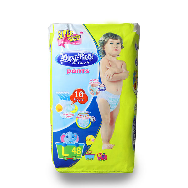Dry-Pro Classic baby Pants Disposable Diapers 9-14kg 48
