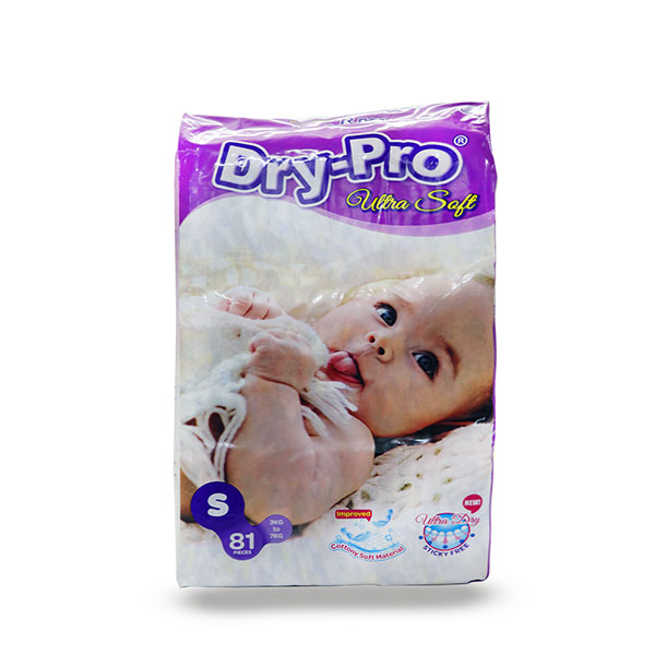 Dry-Pro Ultra Soft Tapes Diapers - Mega Packs