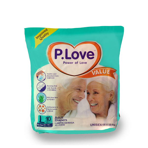 P.Love Value Adult Tape Diapers L10
